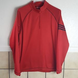 Adidas Golf Red & Black 1/4 zip crew sweatshirt